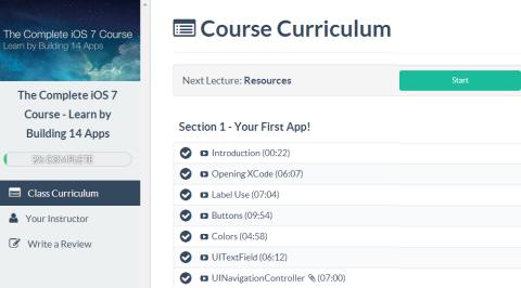 Course Curriculum Interface