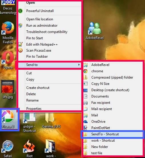 Customize SendTo-SendTo Folder