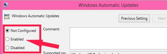 Disable Automatic Windows Updates-Enabled