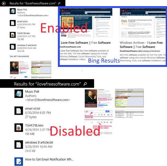 Disable Bing