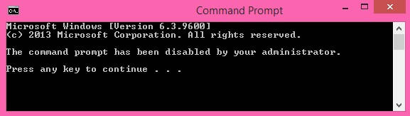 Disable CMD-Message