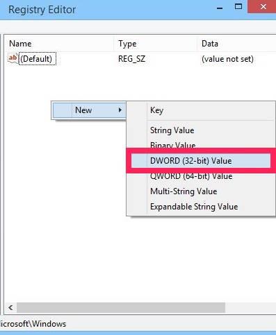 Disable Lock Screen-DWORD