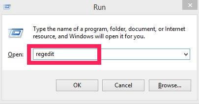 Disable Lock Screen-Run regedit