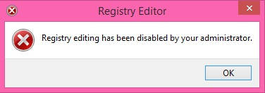 Disable Registry Editor