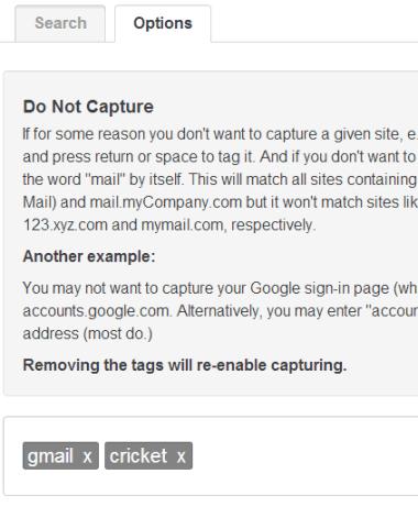 Do Not Capture Mode