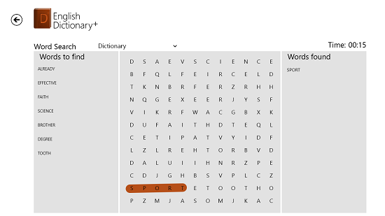 English Dictionary  Word Search