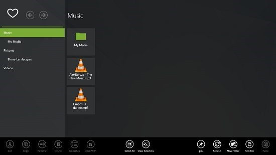 Explorer HD main screen