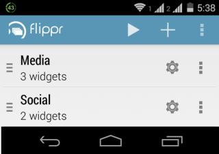 Flippr Home Screen