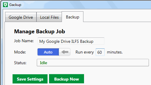 Gackup- automatically backup files to Google Drive