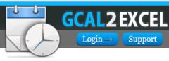 Gcal2Excel