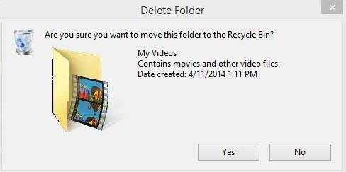 Get Back Delete Confirn Box-Folder