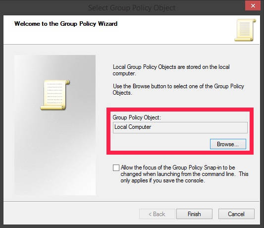 Group Policy Editor-Browse