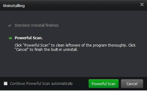 IObit Uninstaller-Powerful Scan