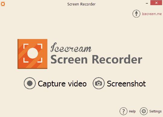 Icecream Screen Recorder- interface