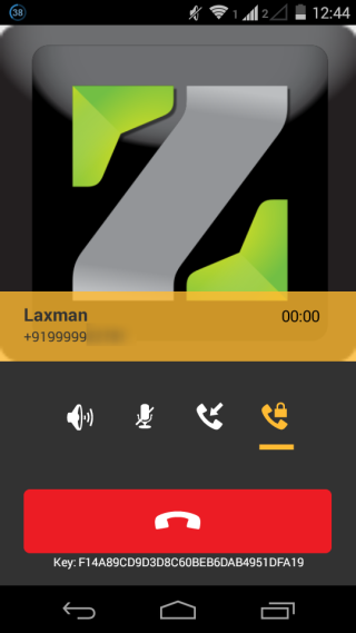 Interface During A Call