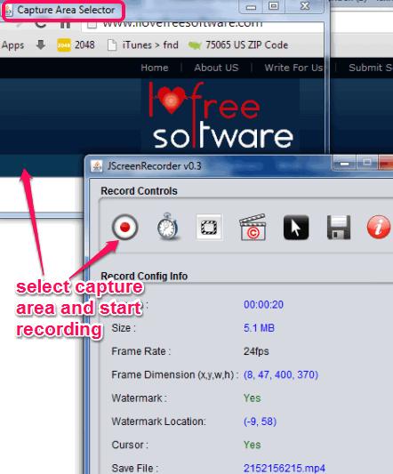 JScreenRecorder- free desktop screen recorder