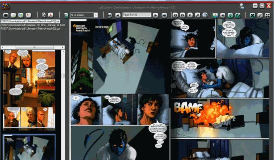 LuJoSoft ComicReader- interface