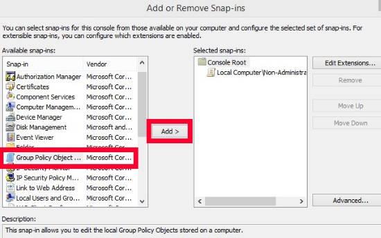 No Start Screen Customization Specific Users-Add