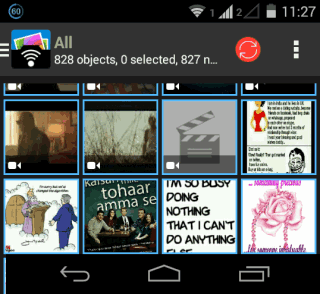 PhotoSync App Home screen
