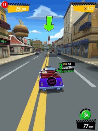 Playing Crazy Taxi