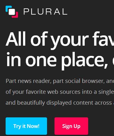 PluralApp Homepage
