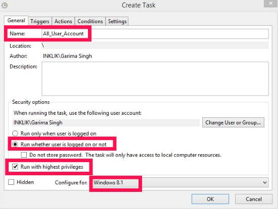 Prevent From AutoLogin-Create Task