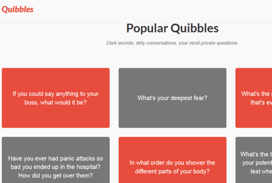 Quibbles- ask any question anonymously online