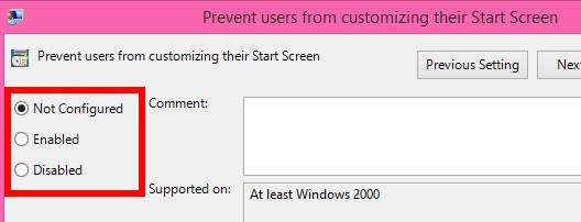 Restrict Users From Accessing Tile Context Menu-Enabled