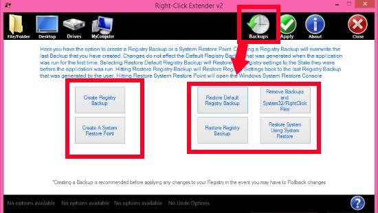 Right Click Extender-Backups
