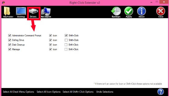 Right Click Extender-Drive