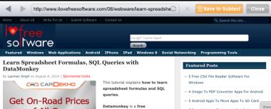 Saving Web Articles
