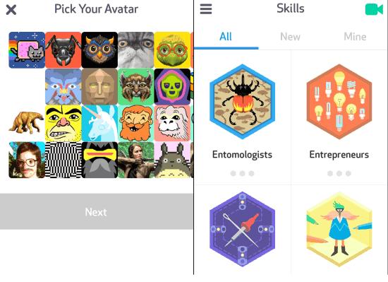 Select Avatar and Skills