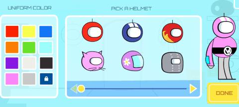 Selecting Helmet