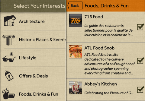 Selecting Interests