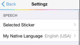 Selecting Sticker and Accent