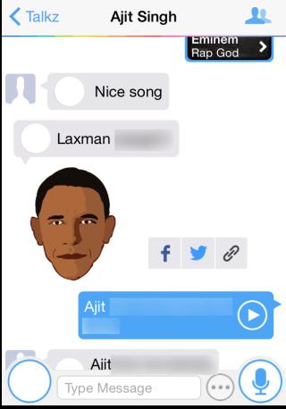 Sending Talking Sticker