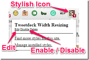 Stylish Icon for Chrome