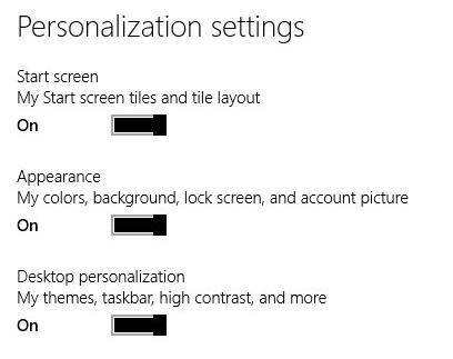 Sync Your Settings-Personalization