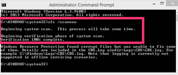 System File Checker-scannow