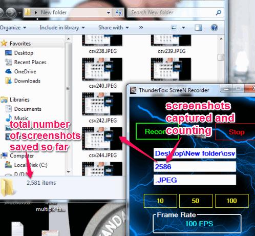 ThunderFox ScreeN Recorder- screenshot capture tool