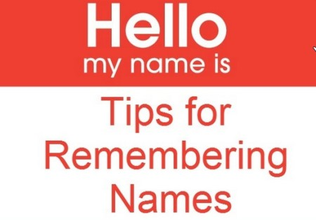 Tricks to remember names