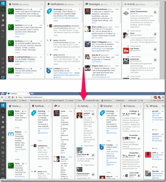TweetDeck Column Resize