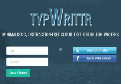 TypWrittr- sign up