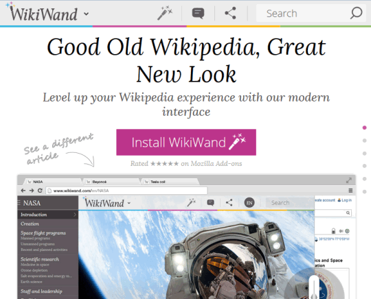 WikiWand interface