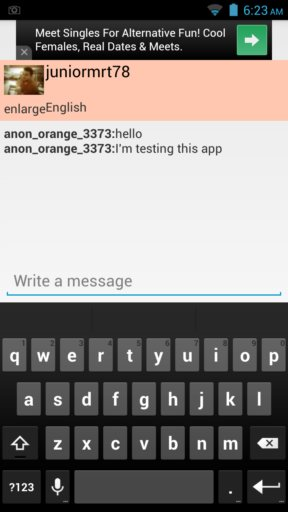 anonymous chat apps android 4