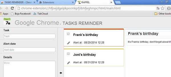 birthday reminder extensions chrome 5