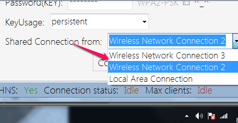 choose connection type