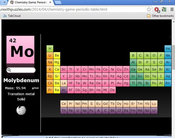 chrome periodic table of elements learning chrome 2