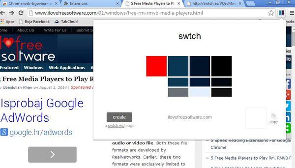 color palette extensions google chrome 5
