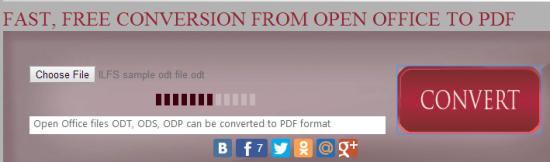 convert OpenDocument files
